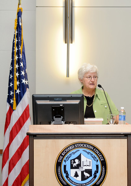 DR. CAROL RITTNER PRESENT ING A TALK ON THE HOLOCAUST AT STOCKTON COLLEGE , POMONA NJ. 07/30/13