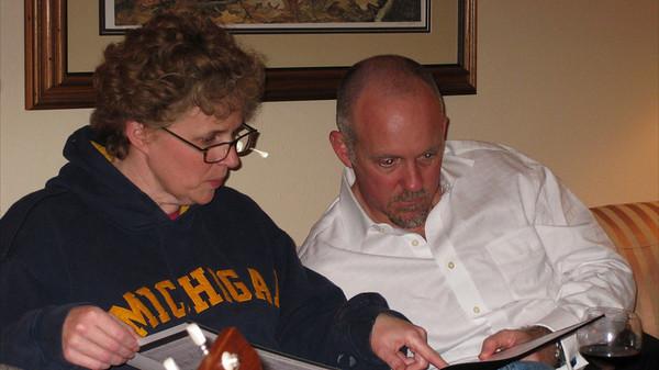 Betsy & David reviewing genealogy