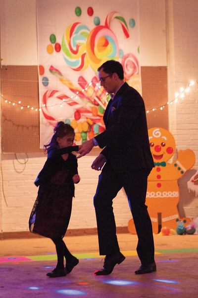 Matthew Gaston | The Sheridan Press<br>Constance Merrian, 8, gets a spin from her father Curt at the Daddy Daughter Dance at the Sheridan Fairgrounds Saturday, Feb. 2, 2019.