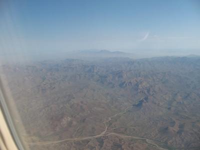 More of Arizona on descent into Phoenix and Scottsdale.