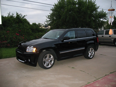 """The replacement for my beloved Mercedes-Benz E-500 """"Panzer"""" - This stealthy overachiever 2007 Jeep SRT-8. Believe it or not, more room, quicker, and pulls more lateral G's cornering than the Blitzen Benz!"""