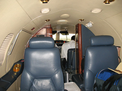 You can just catch a glimpse of Devon, the co-pilot, up in the right hand seat...