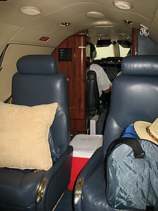 Lear Jet's are incredible airplanes, but the 31's are actually not too big inside. Just perfect for the pilot's and the pair of us that would be flying with them, though.