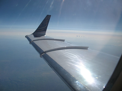Beautiful wing shape and trick wingtip extension on the Lear 31-A...