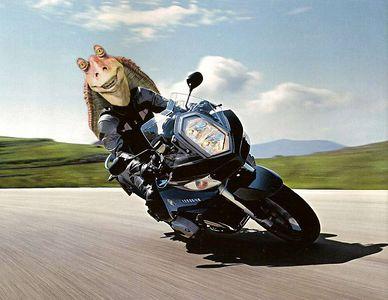 "What Dean ""Granpa Hoon"" Lear actually looks like underneath his helmet on his ""Battlestar Galatica"" BMW R-1200-ST..."