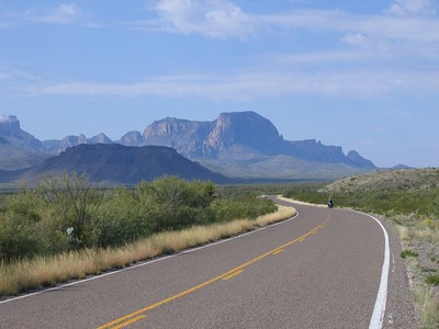 Big Bend at its finest...  It doesn't get much better than this for scenery, but it does get better when you get to ride up and around that formation in the distance!