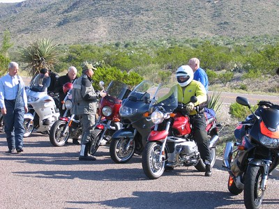 Getting geared up for the trek into the wilds of Big Bend park...