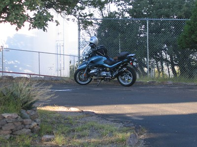 """Dallara's proud and brave Atlanta Blue """"Beak"""" rests quietly in the shade...  Patiently waiting for its next """"thrash and dash"""" down the mountain from McDonald Observatory. It was this Beak's second trip up there that day..."""