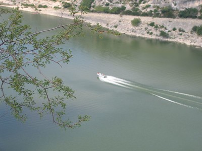 Some boaters enjoying the beautiful day on the Pecos...