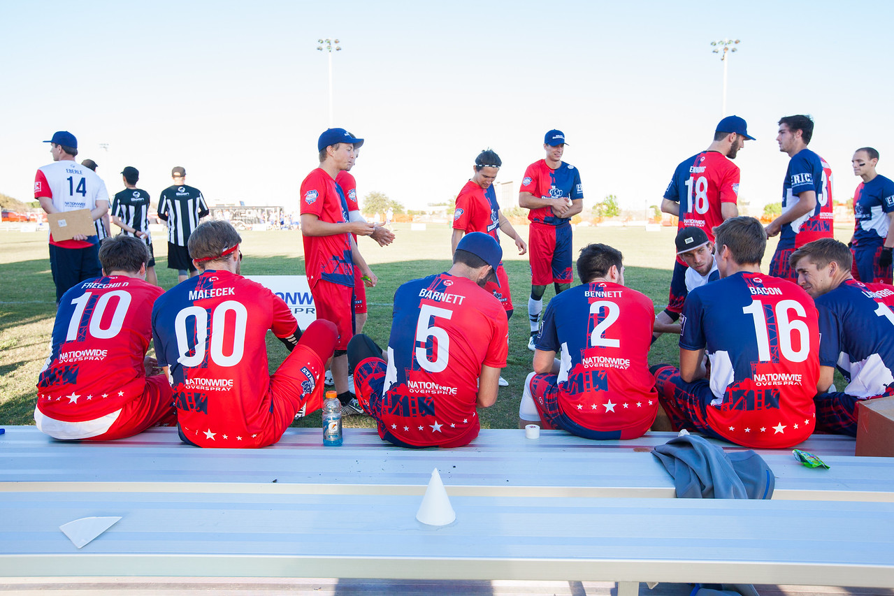 The Dallas Roughnecks take on the Austin Sol in their first game of the 2016 AUDL season at the Five Star Complex in The Colony, Texas. (Photo by Sam Hodde/Hodde Visuals)