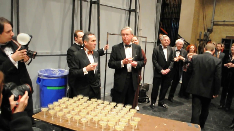 [VIDEO] After the performance, the company joined together for speeches, champagne toasts and community, to bring to a close 5 decades of opera at the Music Hall