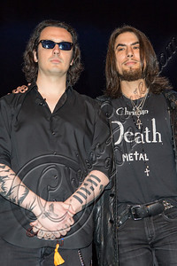 "WESTWOOD, CA - SEPTEMBER 26:  Damien Echols (L) and musician Dave Navarro attend the Damien Echols discussion of ""Life After Death"" at Freud Playhouse, UCLA on September 26, 2012 in Westwood, California.  (Photo by Chelsea Lauren/WireImage)"