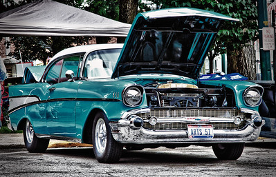 1957 Chevy BelAir at the Dan Emmett Festival in Mount Vernon, Ohio on August 14, 2011.