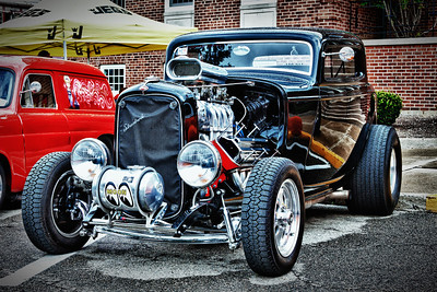 Classical Ford Streetrod at the Dan Emmett Festival in Mount Vernon, Ohio on August 14, 2011.