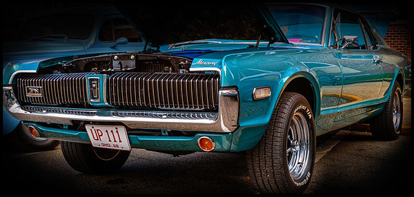 1968 Mercury Cougar from the car show at the Dan Emmett Music and Arts Festival in Mount Vernon, Ohio. Photographed on August 12, 2012.