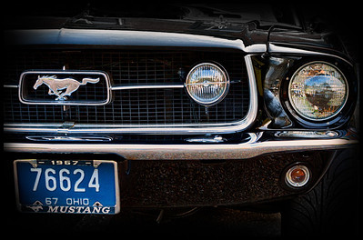 1967 Ford Mustang from the car show at the Dan Emmett Music and Arts Festival in Mount Vernon, Ohio. Photographed on August 12, 2012.