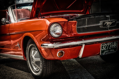 1964 Ford Mustang from the car show at the Dan Emmett Music and Arts Festival in Mount Vernon, Ohio. Photographed on August 12, 2012.