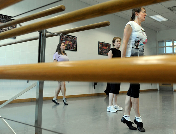 """Edie Gilboy, of Louisville, right, practices an Irish dance on Saturday, Jan. 7, during Dance Days at the East Boulder  Community Center. For more photos and video of the event go to  <a href=""""http://www.dailycamera.com"""">http://www.dailycamera.com</a><br /> Jeremy Papasso/ Camera"""