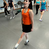 """Dance Instructor Elizabeth Barton, front, shows the class the correct way to do an Irish dance on Saturday, Jan. 7, during Dance Days at the East Boulder  Community Center. For more photos and video of the event go to  <a href=""""http://www.dailycamera.com"""">http://www.dailycamera.com</a><br /> Jeremy Papasso/ Camera"""