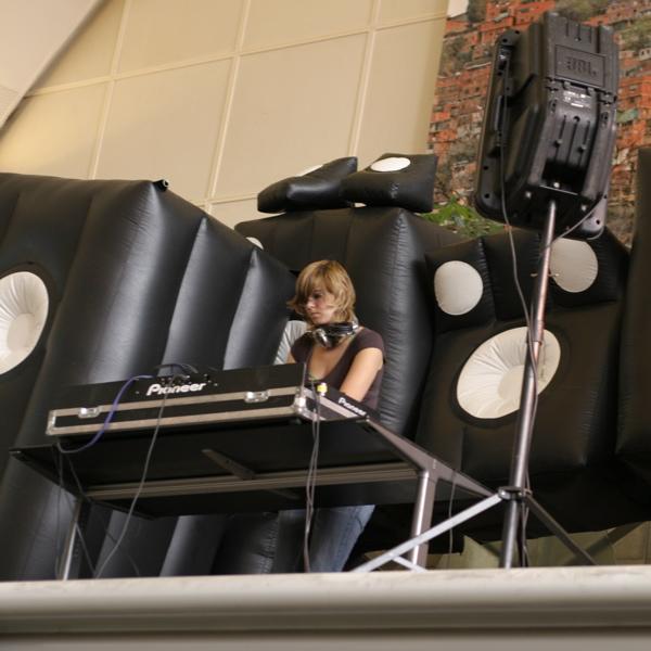 DJ in Rotterdam Central Station hall