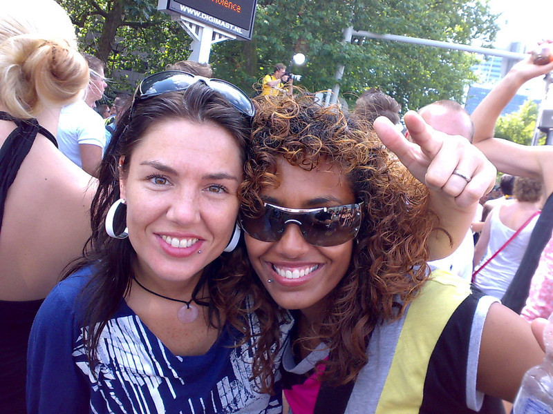 My friends Ingrid and Saskia from Metz parties in Rotterdam