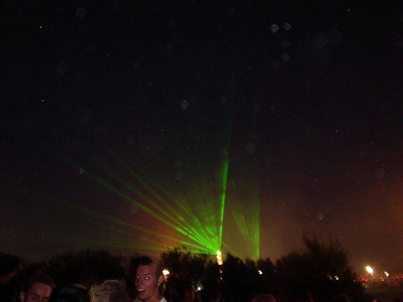 Laser show from the Dance Valley tower of power! Much better in real life than photographed here!