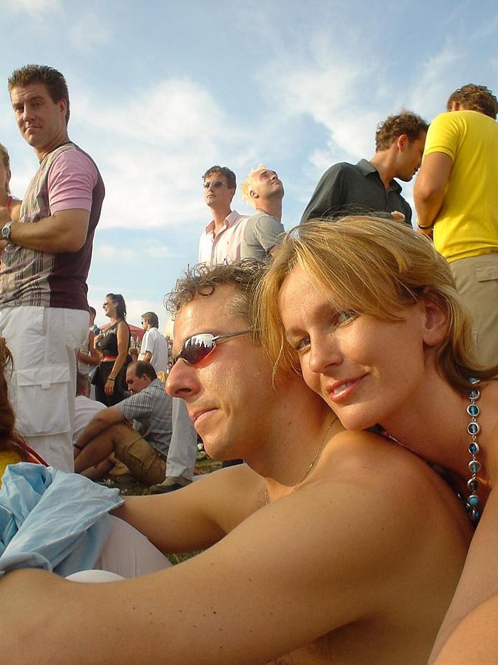 Petra and I enjoying the summer sun around 7pm at Main