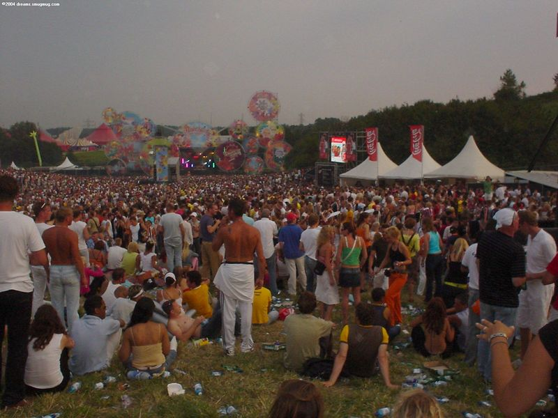 Main Stage at Dance Valley during dusk