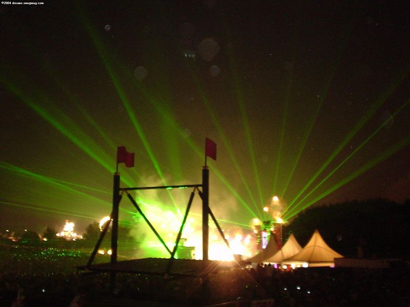 Laser show at Main Stage of Dance Valley during Carl Cox's closing set