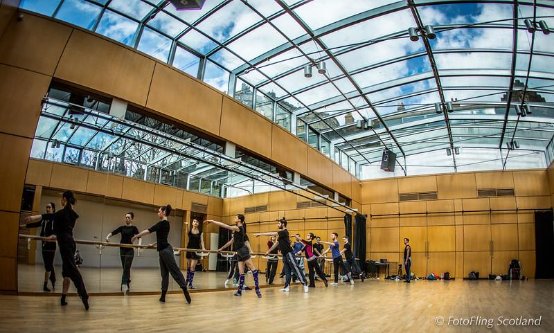 Dance Practice in the Shadow of Edinburgh Castle
