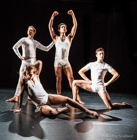 David Hughes Dance Scotland - Rehearsal of Matthew Bourne's 'Spitfire'