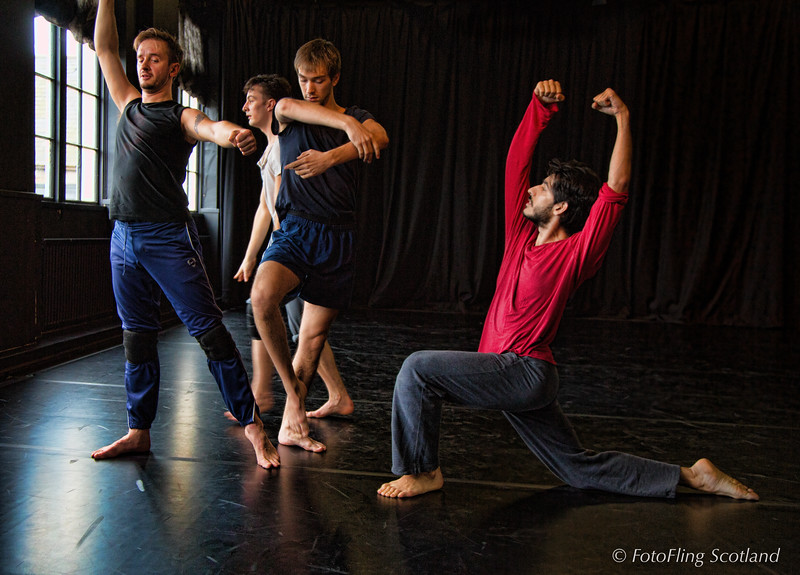 David Hughes Dance Scotland - Rehearsal of Matthew Bourne's 'Spitfire'