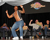 "BONITA SPRINGS, FL  March 5, 2011: Boston Red Sox pitcher Jason Rice shows off his dance moves doing ""The Dougie"" as teammates and judges, from left, designated hitter David Ortiz, second baseman Dustin Pedroia, third baseman Kevin Youkilis and pitcher Michael Bowden react during the Dancing with the New Stars dance contest. (Brita Meng Outzen/Boston Red Sox)"