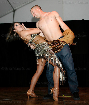 """BONITA SPRINGS, FL, March 6, 2010: Boston Red Sox outfielder Ryan Kalish and his partner perform in the """"Dancing with the New Stars"""" dance contest. (Brita Meng Outzen/Boston Red Sox)"""