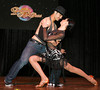 "BONITA SPRINGS, FL, March 6, 2010: Boston Red Sox catcher Mark Wagner and his partner perform in the ""Dancing with the New Stars"" dance contest. (Brita Meng Outzen/Boston Red Sox)"