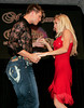 "BONITA SPRINGS, FL, March 1, 2008: Boston Red Sox pitcher Jonathan Papelbon and his dance partner are all business as they perform their routine for the ""Dancing with the All-Stars"" dance contest to benefit the Mike Lowell Foundation and the Red Sox Foundation. (Brita Meng Outzen/Boston Red Sox)"