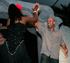 "BONITA SPRINGS, FL, March 1, 2008: Boston Red Sox infielder Alex Cora high-fives his dance partner at the end of their routine during the ""Dancing with the All-Stars"" dance contest to benefit the Mike Lowell Foundation and the Red Sox Foundation. (Brita Meng Outzen/Boston Red Sox)"