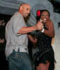 "BONITA SPRINGS, FL, March 1, 2008: Boston Red Sox infielder Alex Cora and his dance partner perform their routine during the ""Dancing with the All-Stars"" dance contest to benefit the Mike Lowell Foundation and the Red Sox Foundation. (Brita Meng Outzen/Boston Red Sox)"