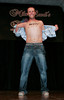 """BONITA SPRINGS, FL, March 1, 2008: Boston Red Sox second baseman Dustin Pedroia surprises when he takes off his shirt with a flourish during his routine for the """"Dancing with the All-Stars"""" dance contest to benefit the Mike Lowell Foundation and the Red Sox Foundation. (Brita Meng Outzen/Boston Red Sox)"""