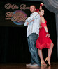 "BONITA SPRINGS, FL, March 1, 2008: Boston Red Sox second baseman Dustin Pedroia and his dance partner assume their opening poses during the ""Dancing with the All-Stars"" dance contest to benefit the Mike Lowell Foundation and the Red Sox Foundation. (Brita Meng Outzen/Boston Red Sox)"