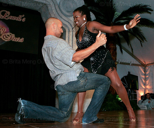 "BONITA SPRINGS, FL, March 1, 2008: Boston Red Sox infielder Alex Cora and his dance partner shimmy during their routine for the ""Dancing with the All-Stars"" dance contest to benefit the Mike Lowell Foundation and the Red Sox Foundation. (Brita Meng Outzen/Boston Red Sox)"