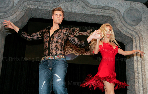"BONITA SPRINGS, FL, March 1, 2008: Boston Red Sox pitcher Jonathan Papelbon performs with his dance partner during the ""Dancing with the All-Stars"" dance contest to benefit the Mike Lowell Foundation and the Red Sox Foundation. (Brita Meng Outzen/Boston Red Sox)"