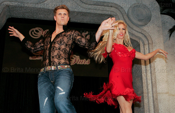 """BONITA SPRINGS, FL, March 1, 2008: Boston Red Sox pitcher Jonathan Papelbon performs with his dance partner during the """"Dancing with the All-Stars"""" dance contest to benefit the Mike Lowell Foundation and the Red Sox Foundation. (Brita Meng Outzen/Boston Red Sox)"""