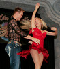 "BONITA SPRINGS, FL, March 1, 2008: Boston Red Sox pitcher Jonathan Papelbon and his partner laugh as they continue their dance routing after colliding during a move at the ""Dancing with the All-Stars"" dance contest to benefit the Mike Lowell Foundation and the Red Sox Foundation. (Brita Meng Outzen/Boston Red Sox)"