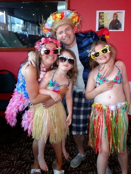 Christina, Danny, Carla and Leona Sloane<br /> Dannys 40th Birthday 2014