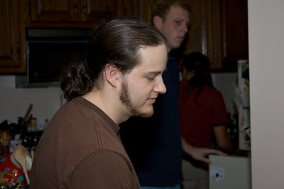 Me in the kitchen, shot by Kris.