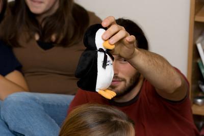 Nate, penguin placer.