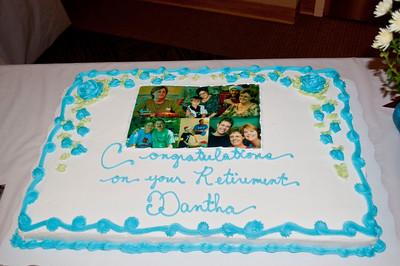 Dantha's retirement ceremony