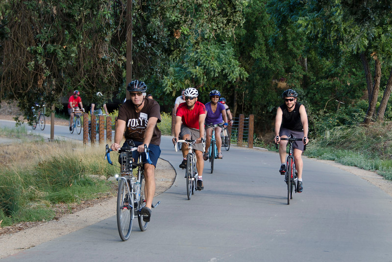 Along the South Davis greenbelt (Darell Dickey leads the hour-long ride)