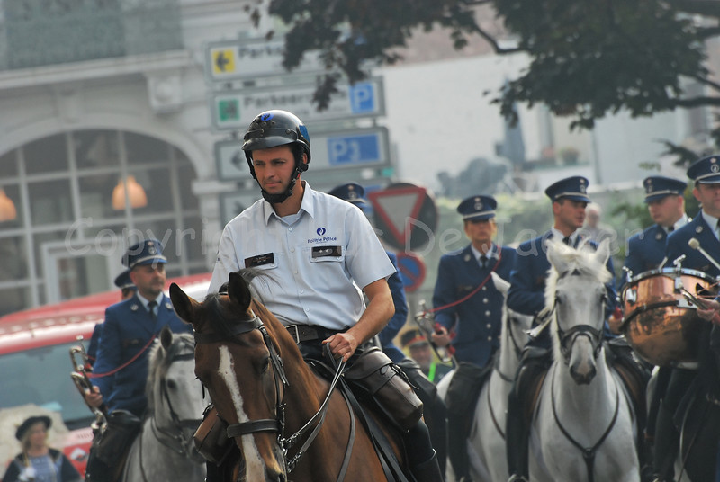 Performance of the federal mounted police.
